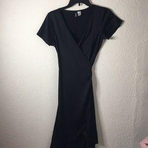 Silky wraparound dress
